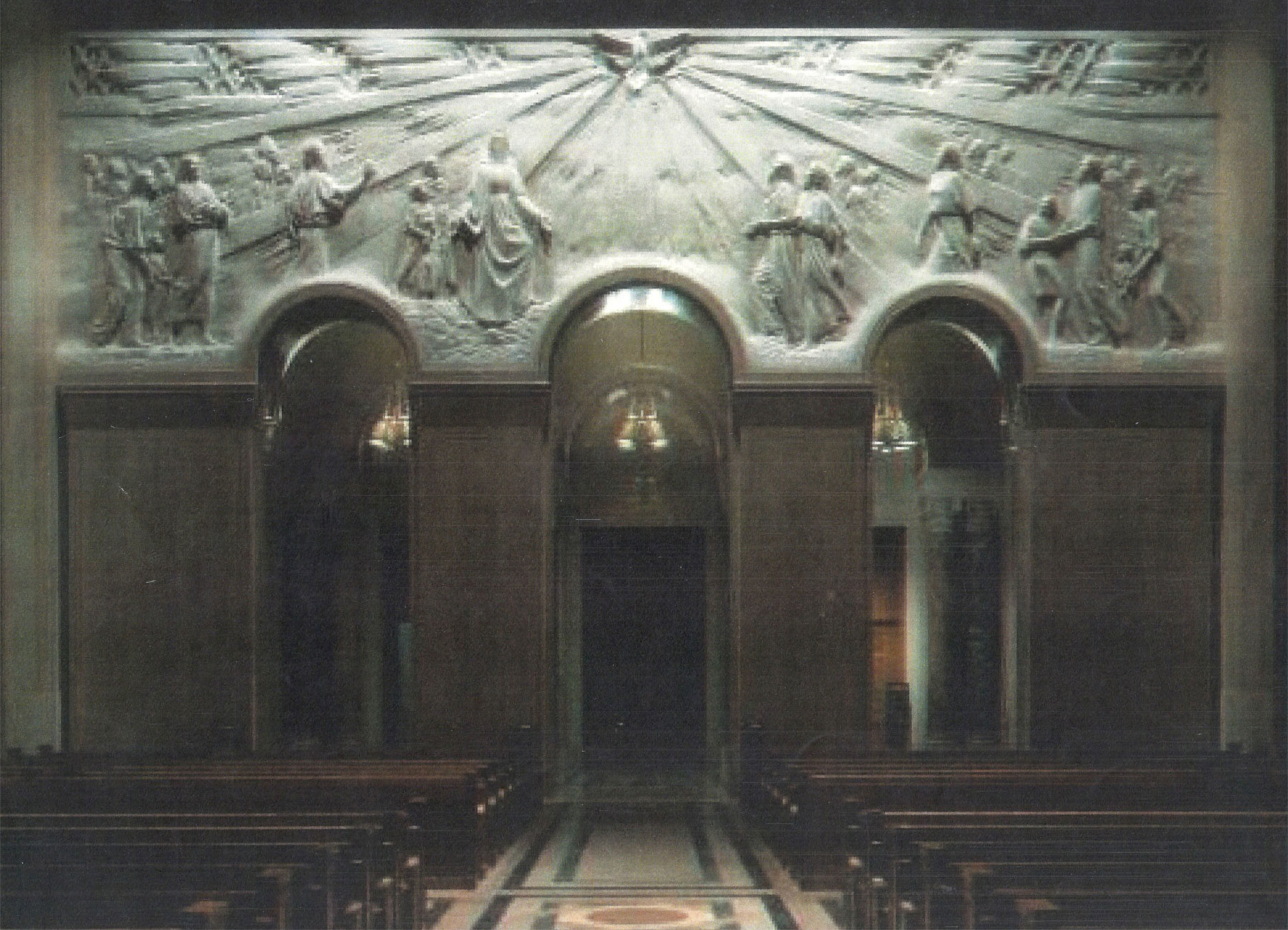 Bas relief installin in a church in the USA.